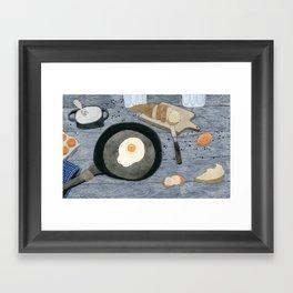 Egg For Breakfast Framed Art Print