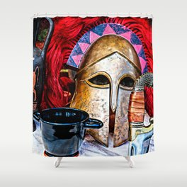 Glory of the heroic age Shower Curtain