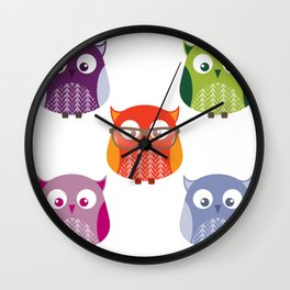 Owls Wall Clock