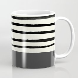 Charcoal Gray x Stripes Coffee Mug