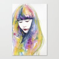 lime Canvas Prints featuring lime nights by agnes-cecile