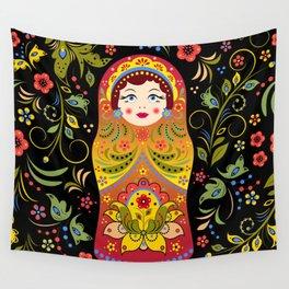 Russian matrioshka Wall Tapestry