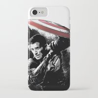 steve rogers iPhone & iPod Cases featuring Steve Rogers: Shadow Edition by NKlein Design