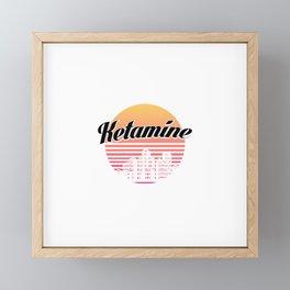 Ketamine drug   retro vintage art work Framed Mini Art Print