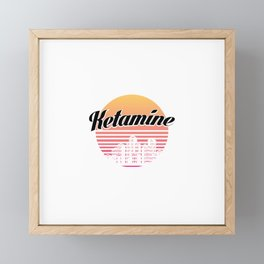 Ketamine drug | retro vintage art work Framed Mini Art Print