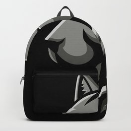 Bobcat Head Metallic Icon Backpack