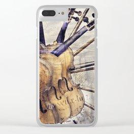 Classic Violins Clear iPhone Case