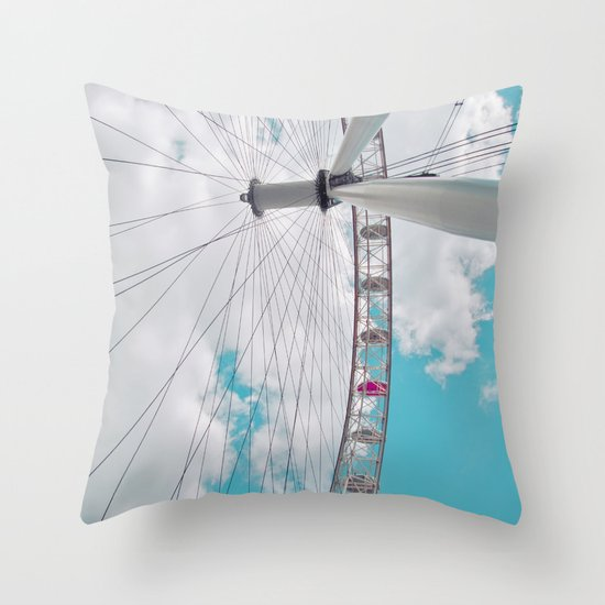 eye in the sky... Throw Pillow