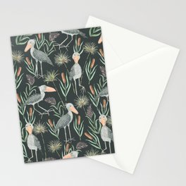 The Magnificent Shoebill Pattern Stationery Cards
