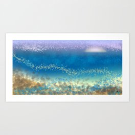 Abstract Seascape 03 wc Art Print