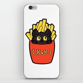 Cat Fry Order uwu iPhone Skin