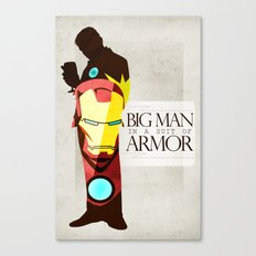 Suit of Armor : Iron Man Canvas Print