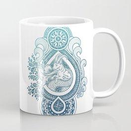 Paisley Capricornus | Turquoise Blue Ombré Coffee Mug