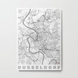 Dusseldorf Map Line Metal Print
