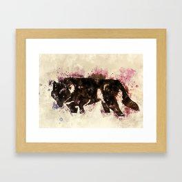 Wolf art Framed Art Print