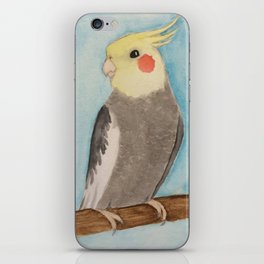 Red Cheeked Cockatiel iPhone Skin