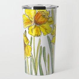 Yellow Daffodils Travel Mug