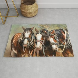 Clydesdale Conversation Rug