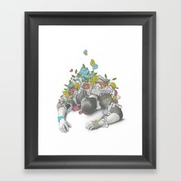 Downward Framed Art Print
