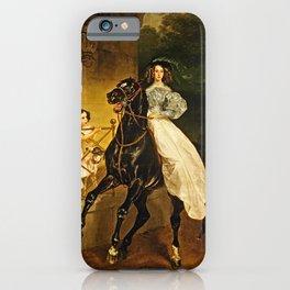 Karl Bryullov - A Rider iPhone Case