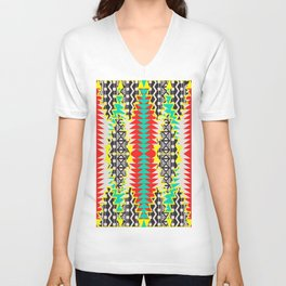 Tribal Beat Geo Neon Unisex V-Neck