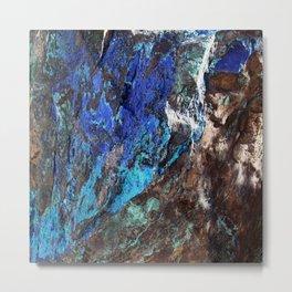 malachite mineral stone geology Metal Print