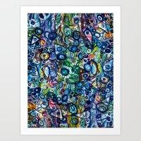 underwater Art Prints featuring Underwater by Lilikipi