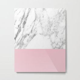 Marbled blush Metal Print