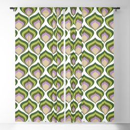 1970s retro avocado wallpaper Blackout Curtain