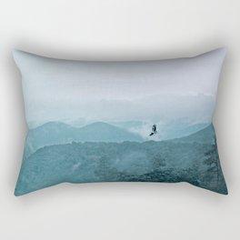 Blue smoky mountains Rectangular Pillow