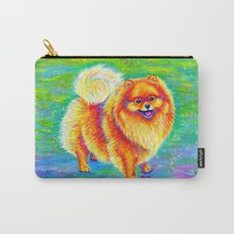 Rainbow Pomeranian Carry-All Pouch