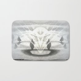 Oasis Abstract by Saribelle Rodriguez Bath Mat