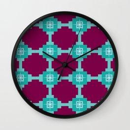 Blue Fretwork Wall Clock