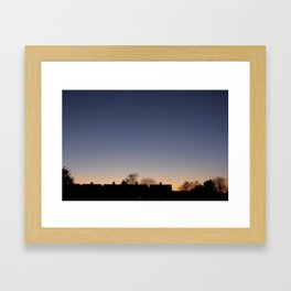 one of those rare moments of beauty. Framed Art Print