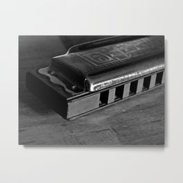 Black, White, & the Blues Metal Print
