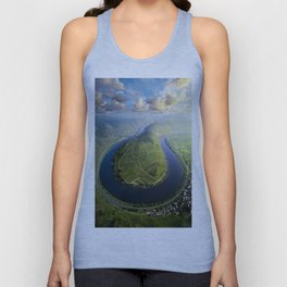 Incredible Mosel River Bend in Germany Unisex Tank Top