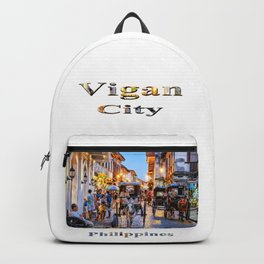 Rush Hour in Vigan City Backpack