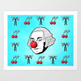 Chopping Cherries Art Print