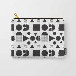 Block Party Black and White Carry-All Pouch