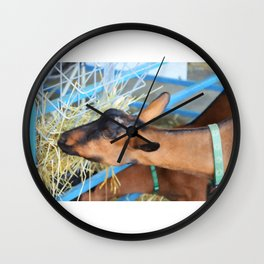 Portrait Of A Goat 2 Wall Clock