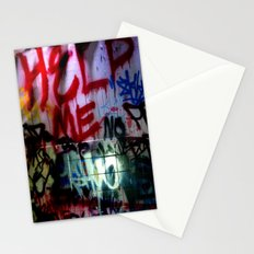 help me graffitti Stationery Cards
