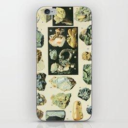 Vintage Minerals Chart iPhone Skin