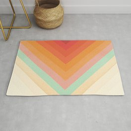 Rainbow Chevrons Rug