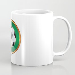 Beer and Soccer Ball in green circle Coffee Mug