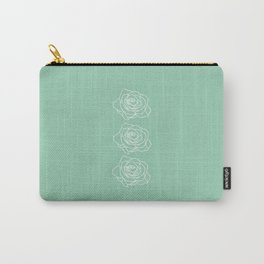 Rose Vert Claire Carry-All Pouch
