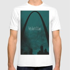 St. Louis Party Mens Fitted Tee White SMALL