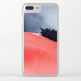 Peach Clear iPhone Case