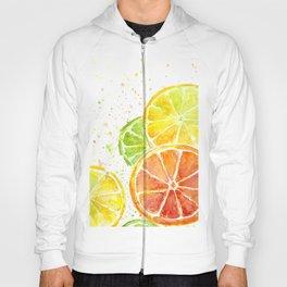 Fruit Watercolor Citrus Hoody