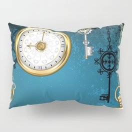 Steampunk Design with Clocks and Gears Pillow Sham