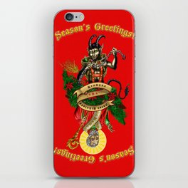 Krampus & Saint Nikolaus iPhone Skin